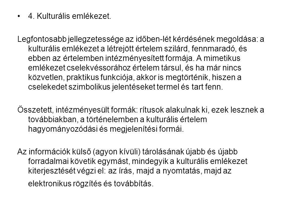 4. Kulturális emlékezet.