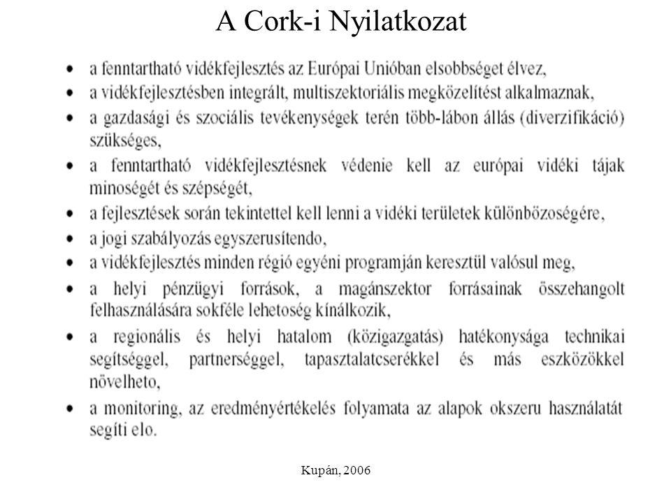 Kupán, 2006 A Cork-i Nyilatkozat