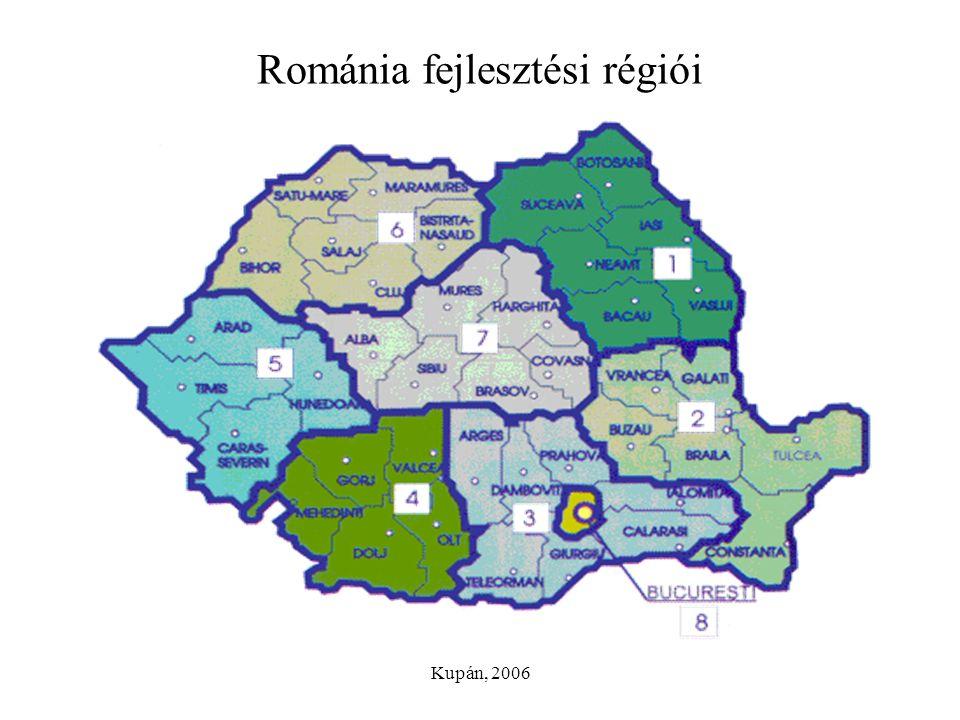 Kupán, 2006 Románia fejlesztési régiói