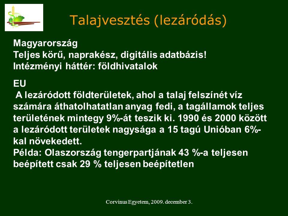 Talajvesztés (lezáródás) Magyarország Teljes körű, naprakész, digitális adatbázis.