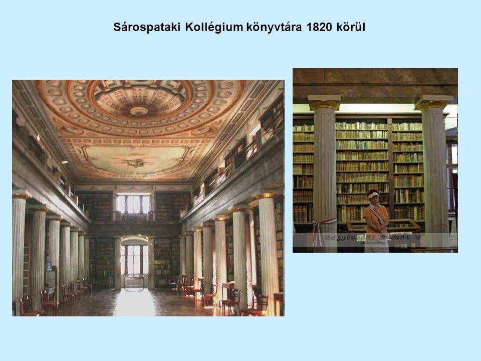 Sárospataki Kollégium könyvtára 1820 körül