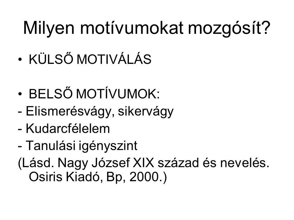A motiváció mint működés (folyamat) I.