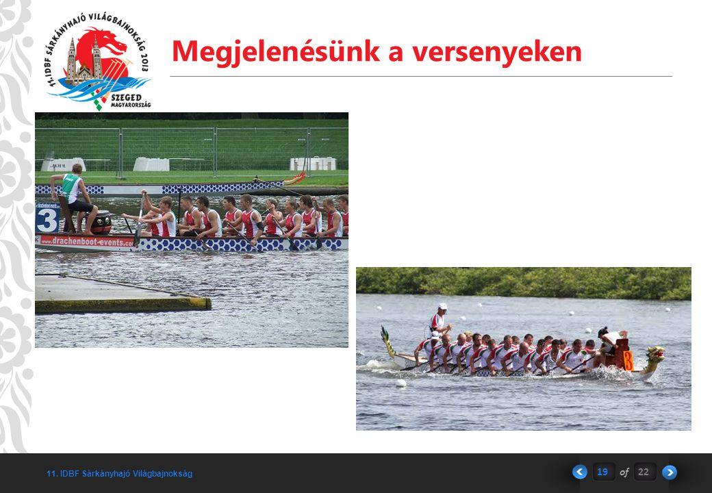 11. IDBF Sárkányhajó Világbajnokság Megjelenésünk a versenyeken 19of22