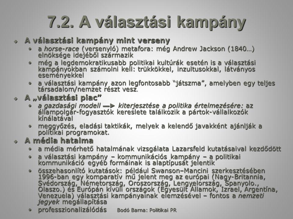 Bodó Barna: Politikai PR 7.3.