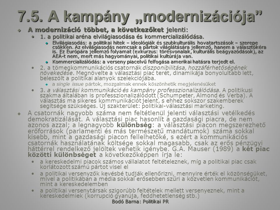 Bodó Barna: Politikai PR 7.6.