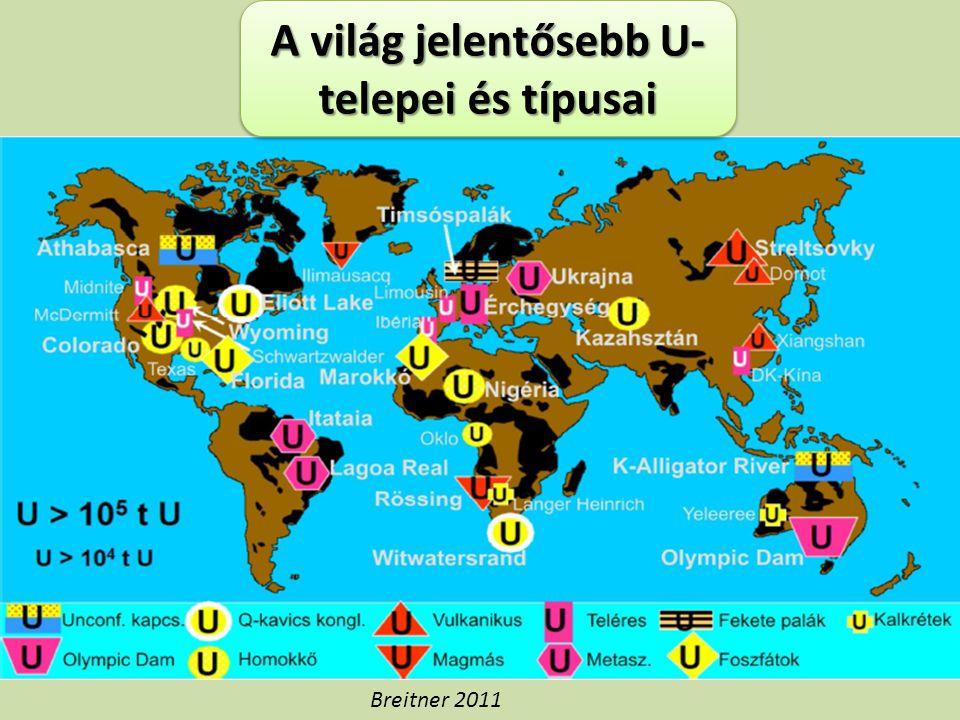 A világ jelentősebb U- telepei és típusai Breitner 2011