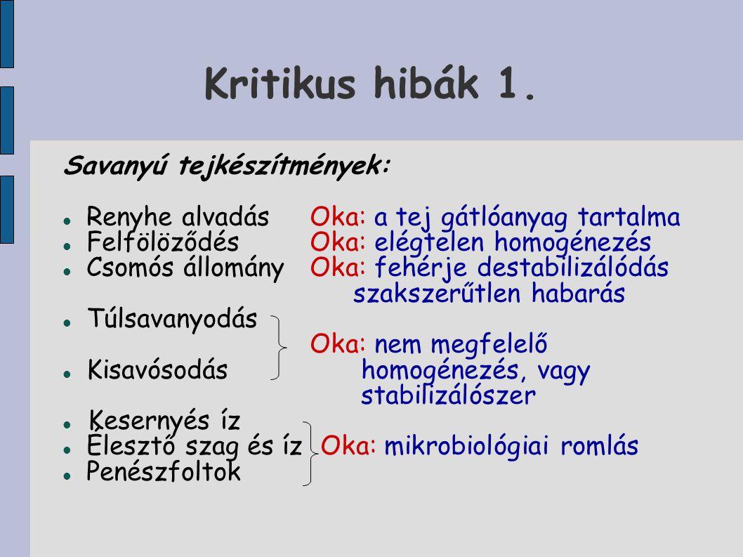 Kritikus hibák 1.