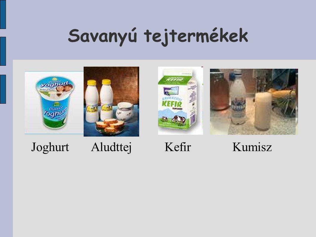 Savanyú tejtermékek JoghurtAludttej Kefir Kumisz