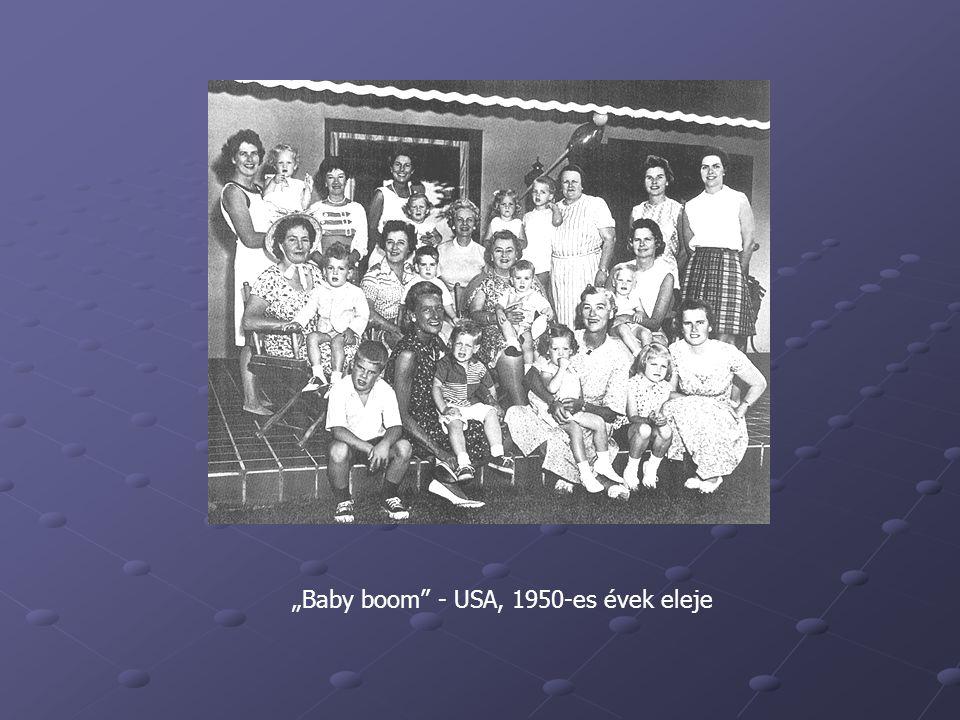 """""""Baby boom"""" - USA, 1950-es évek eleje"""
