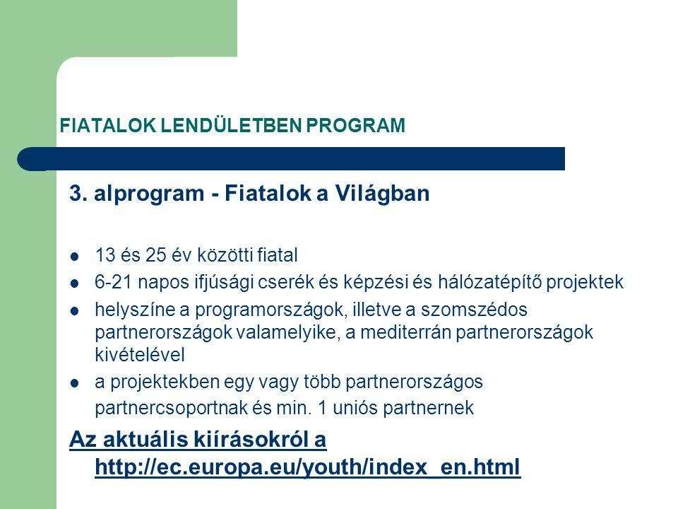 FIATALOK LENDÜLETBEN PROGRAM 3.