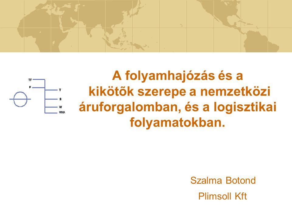 A folyamhajózás és a kikötõk szerepe a nemzetközi áruforgalomban, és a logisztikai folyamatokban. Szalma Botond Plimsoll Kft