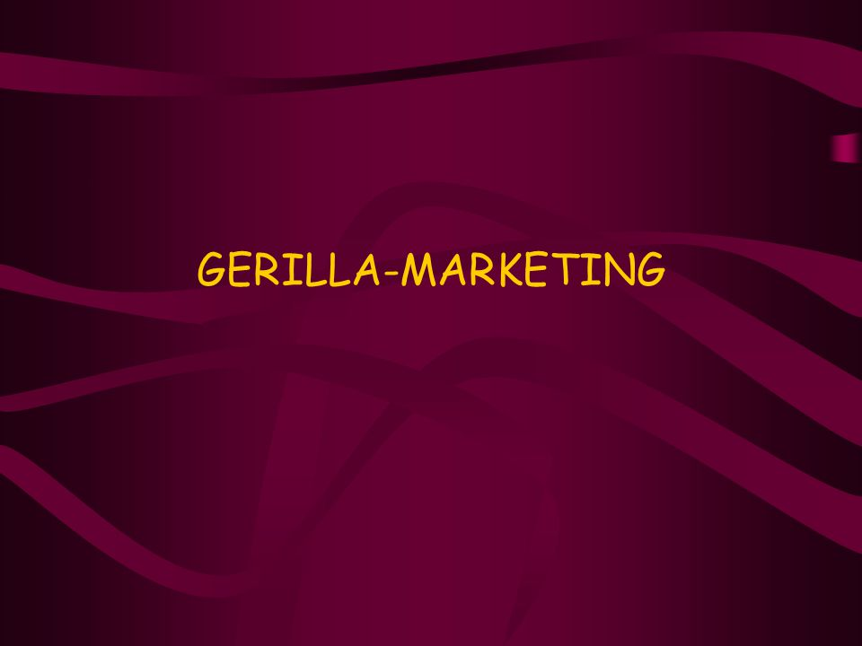 GERILLA-MARKETING