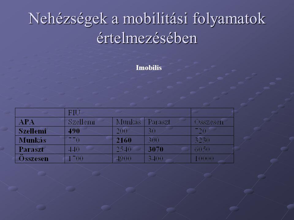 Nehézségek a mobilitási folyamatok értelmezésében Imobilis