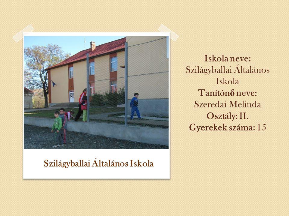 Iskola neve: Szilágyballai Általános Iskola Tanítón ő neve: Szeredai Melinda Osztály: II.