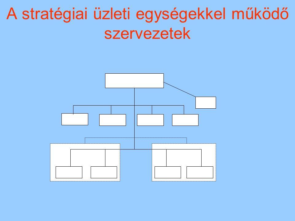 A stratégiai üzleti egységekkel működő szervezetek
