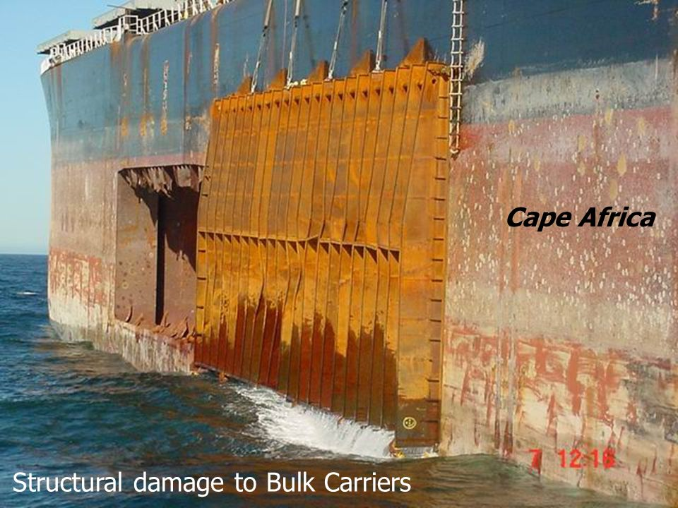 Structural damage to Bulk Carriers Cape Africa