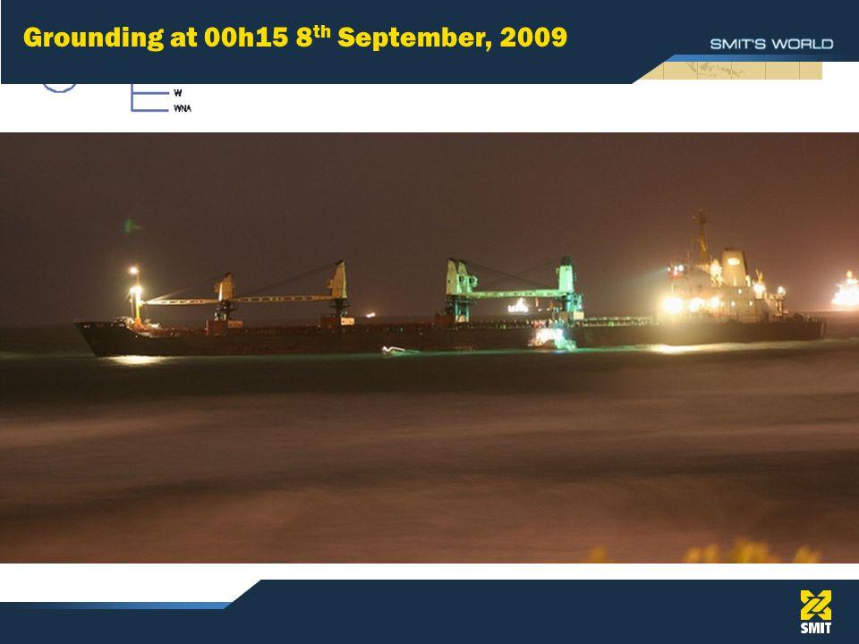 Grounding at 00h15 8 th September, 2009