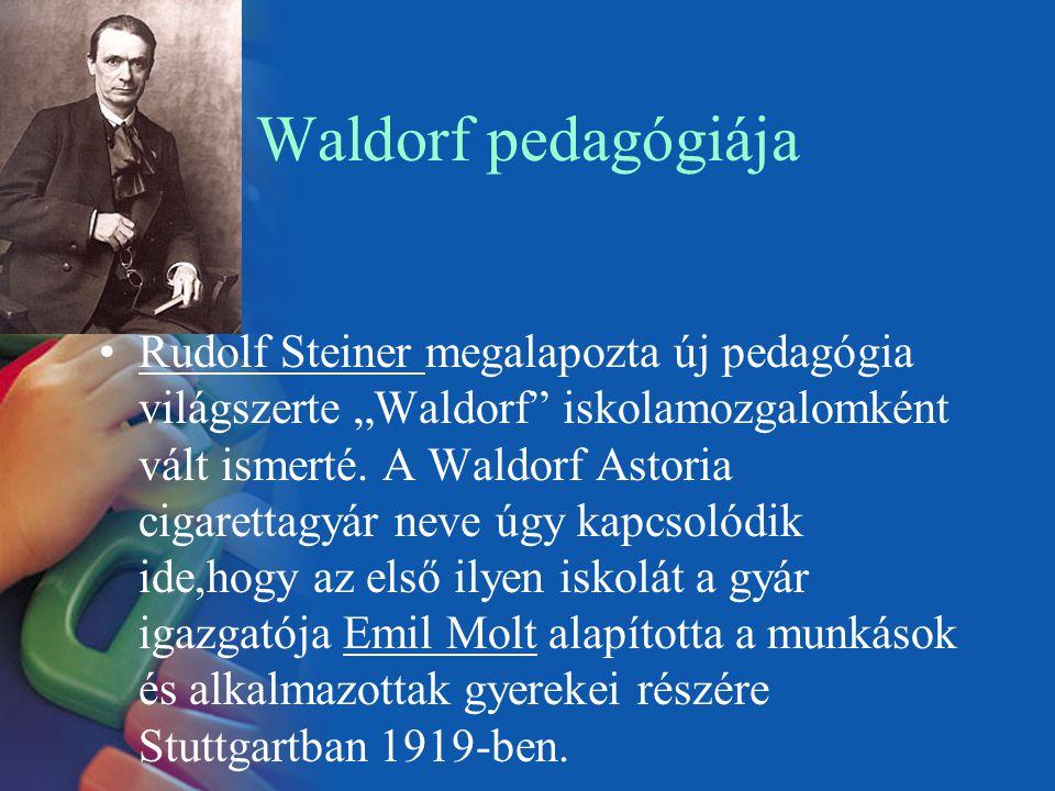 """Waldorf pedagógiája Rudolf Steiner megalapozta új pedagógia világszerte """"Waldorf"""" iskolamozgalomként vált ismerté. A Waldorf Astoria cigarettagyár nev"""