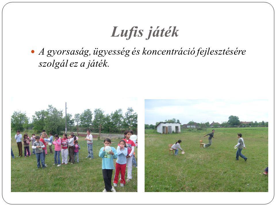 Lufis játék A gyorsaság, ügyesség és koncentráció fejlesztésére szolgál ez a játék.