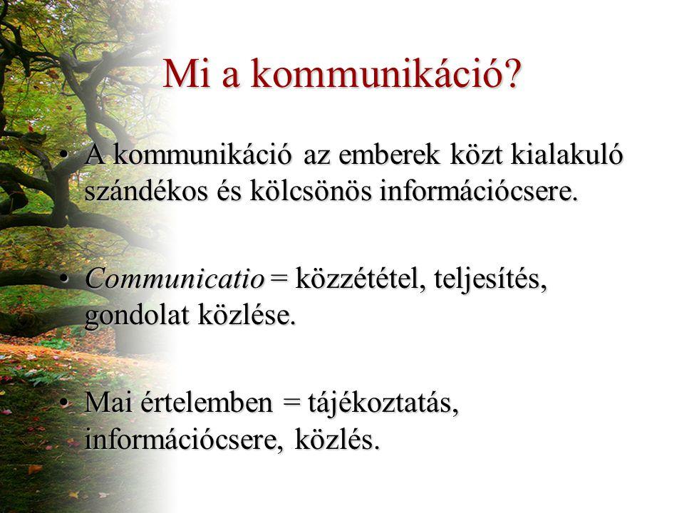 Mi a kommunikáció.