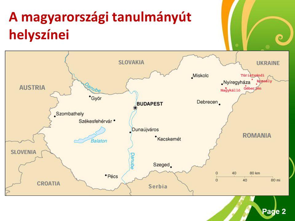 Free Powerpoint Templates Page 2 A magyarországi tanulmányút helyszínei