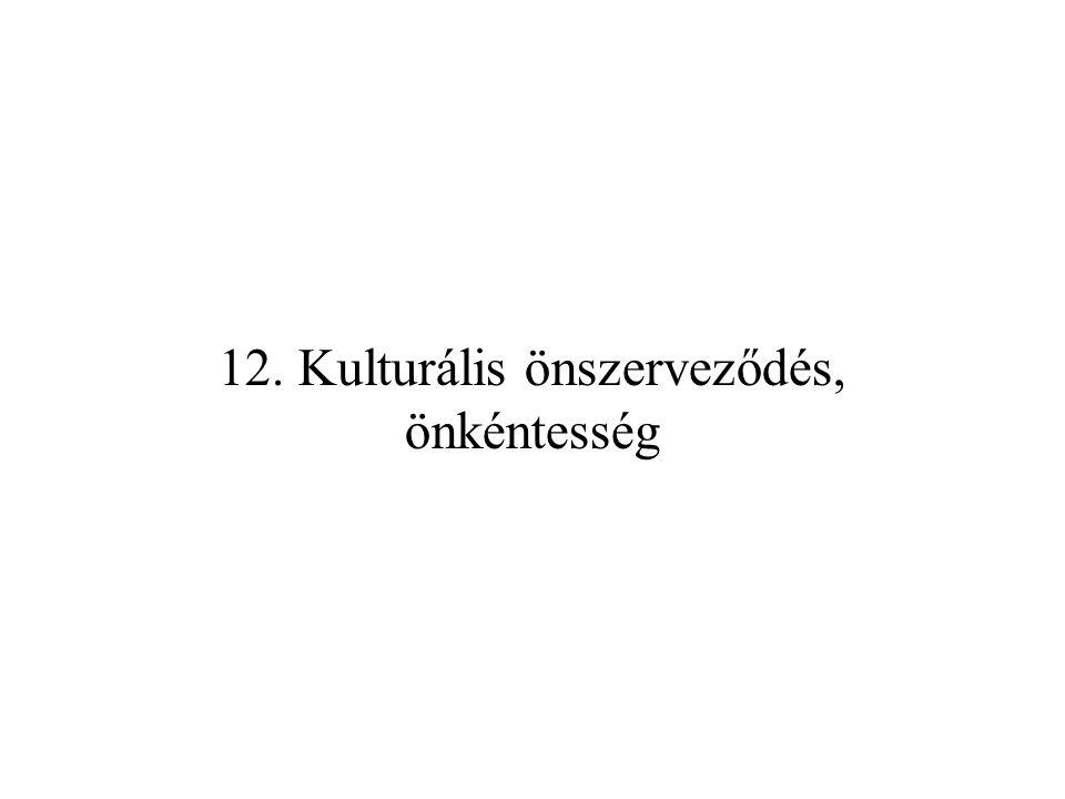 Kulturális önszerveződés:,,a szabadság kis körei (Bibó István).