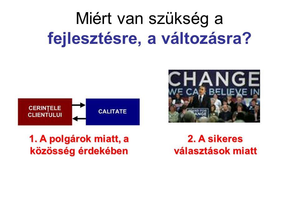 Miért van szükség a fejlesztésre, a változásra.1.