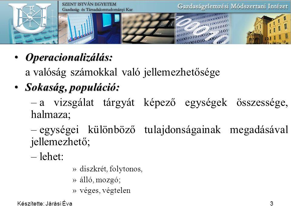 Készítette: Járási Éva64 A magyarországi kft.-k foglalkoztatottainak megoszlása havi bruttó átlagkereset szerint (reprezentatív minta alapján) Becsülje meg, a foglalkoztatottak havi átlagos keresetét 95% megbízhatósági szinten.
