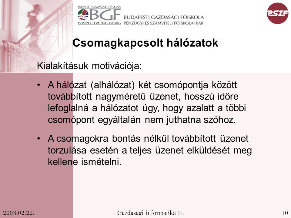 10Gazdasági informatika II.2008.02.20.