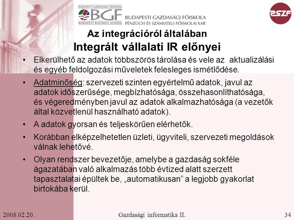 34Gazdasági informatika II.2008.02.20.