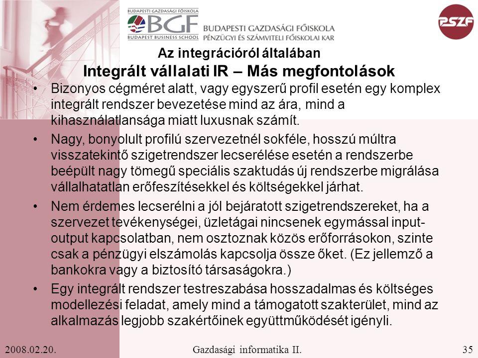 35Gazdasági informatika II.2008.02.20.