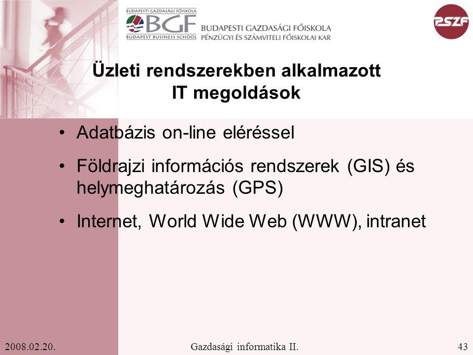 43Gazdasági informatika II.2008.02.20.
