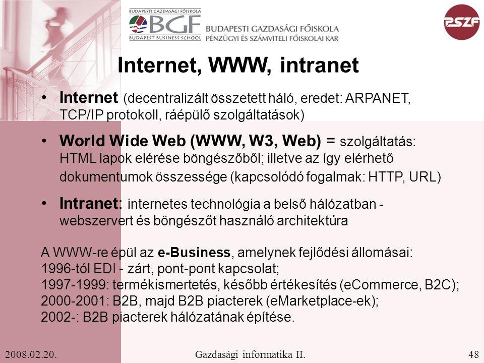 48Gazdasági informatika II.2008.02.20.