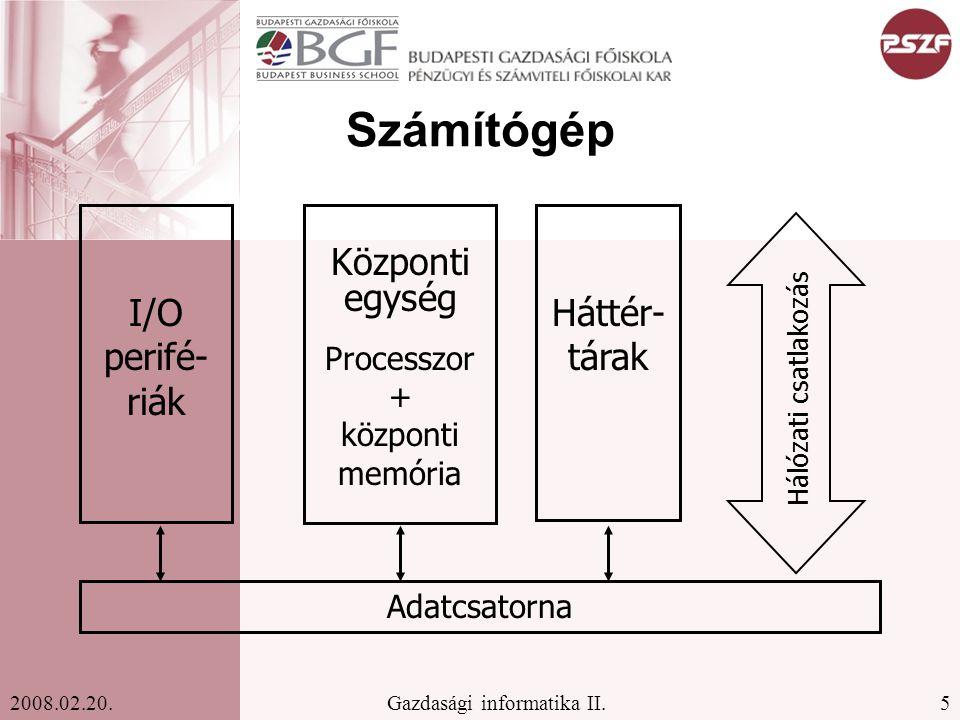 26Gazdasági informatika II.2008.02.20.