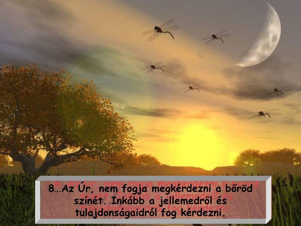 7… Az Úr, nem azt fogja kérdezni, ki volt a szomszédod. Azt fogja kérdezni tőled, milyen szomszéd voltál te?