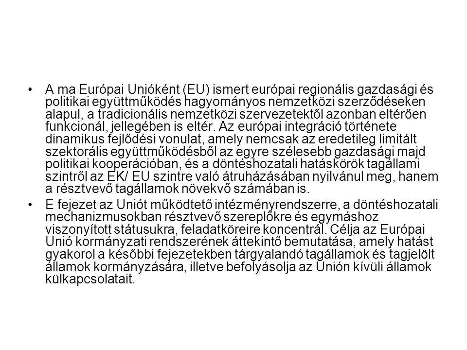 A ma Európai Unióként (EU) ismert európai regionális gazdasági és politikai együttműködés hagyományos nemzetközi szerződéseken alapul, a tradicionális