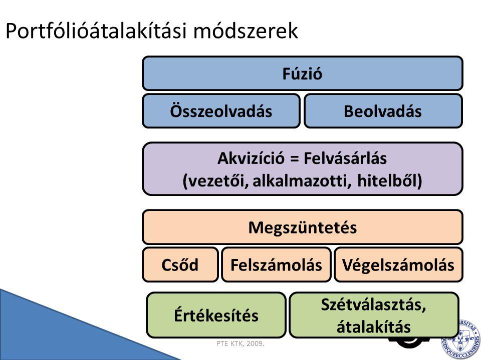 Összegzés 2014.07. 21.PTE KTK, 2009.