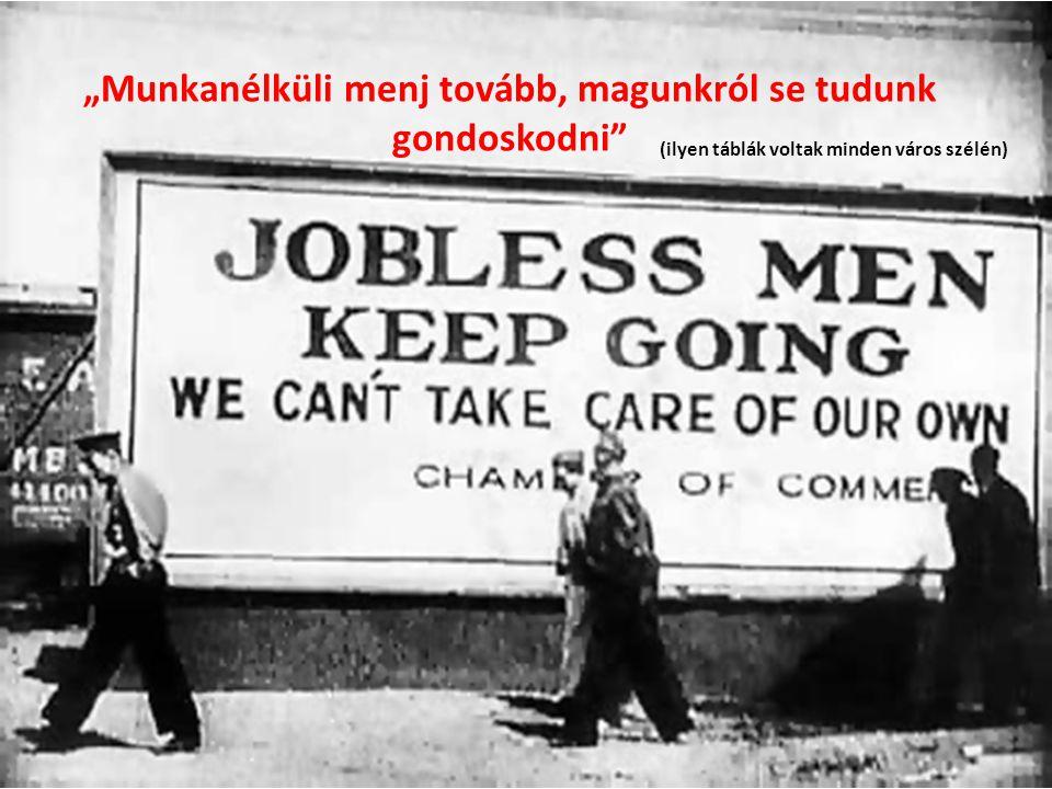 """""""Munkanélküli menj tovább, magunkról se tudunk gondoskodni (ilyen táblák voltak minden város szélén)"""