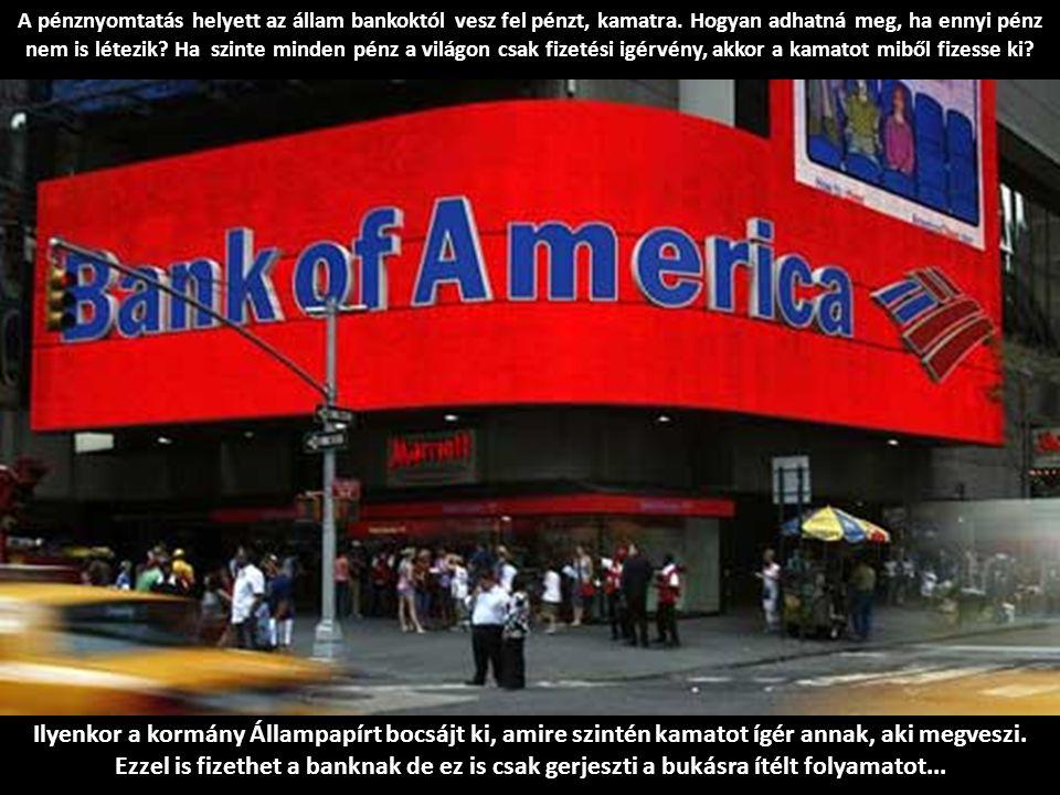 A pénznyomtatás helyett az állam bankoktól vesz fel pénzt, kamatra.