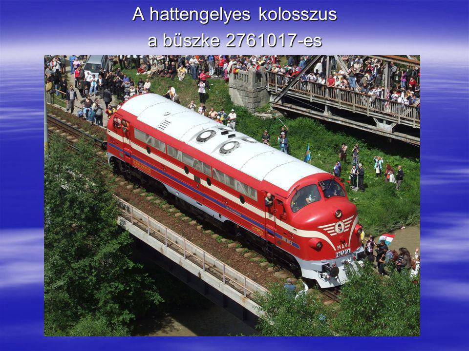 Érkezés Gyimesbükkre, ahol mindenki a magyar mozdony mellett készíttetett emlékfotót.