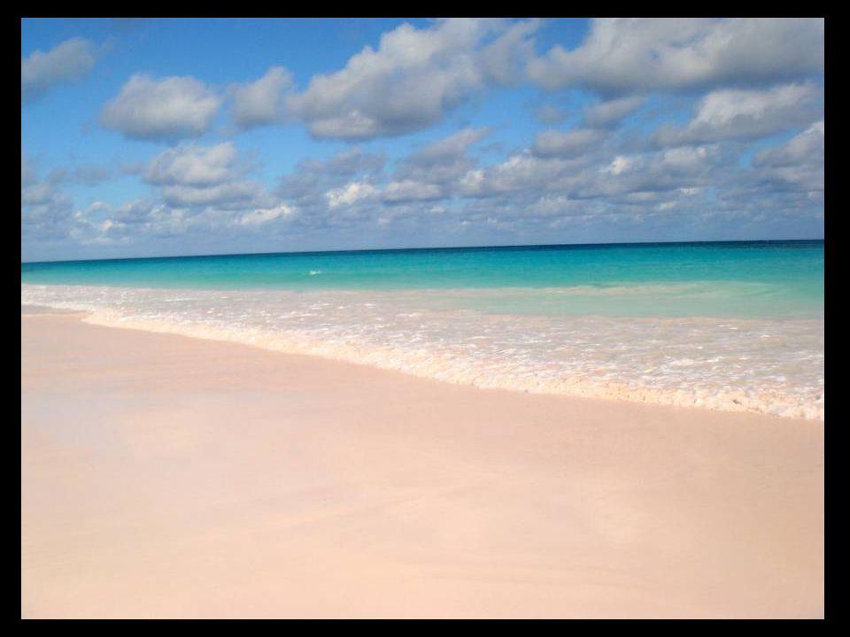 A Bahama szigetek rózsaszín homok strandjai.