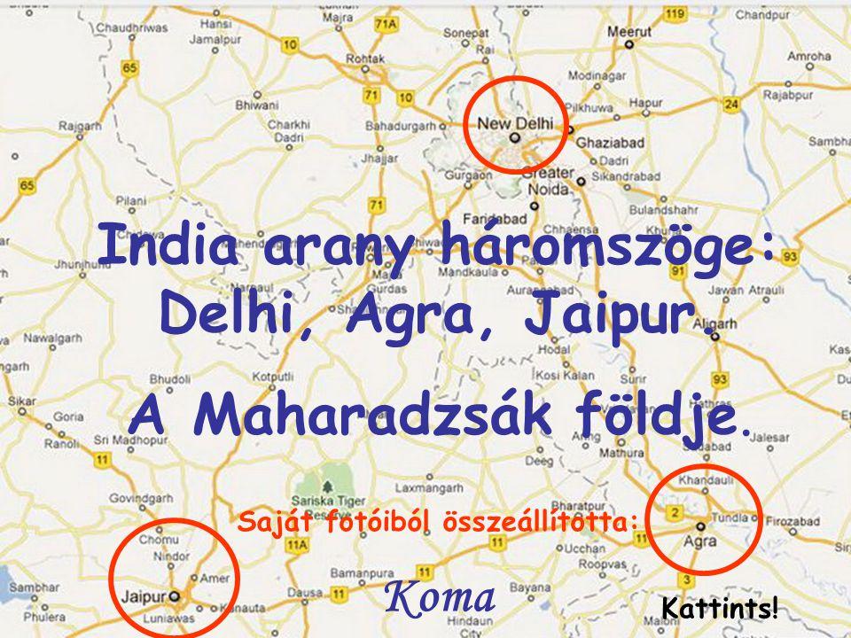 India arany háromszöge: Delhi, Agra, Jaipur.A Maharadzsák földje.