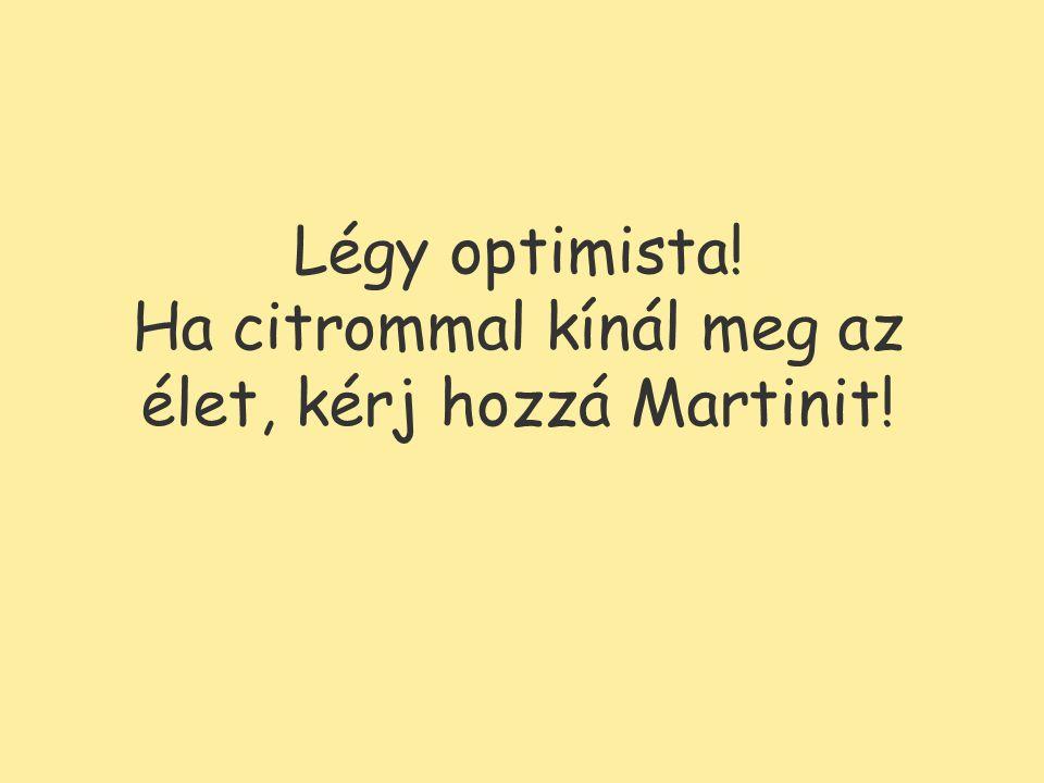 Légy optimista! Ha citrommal kínál meg az élet, kérj hozzá Martinit!