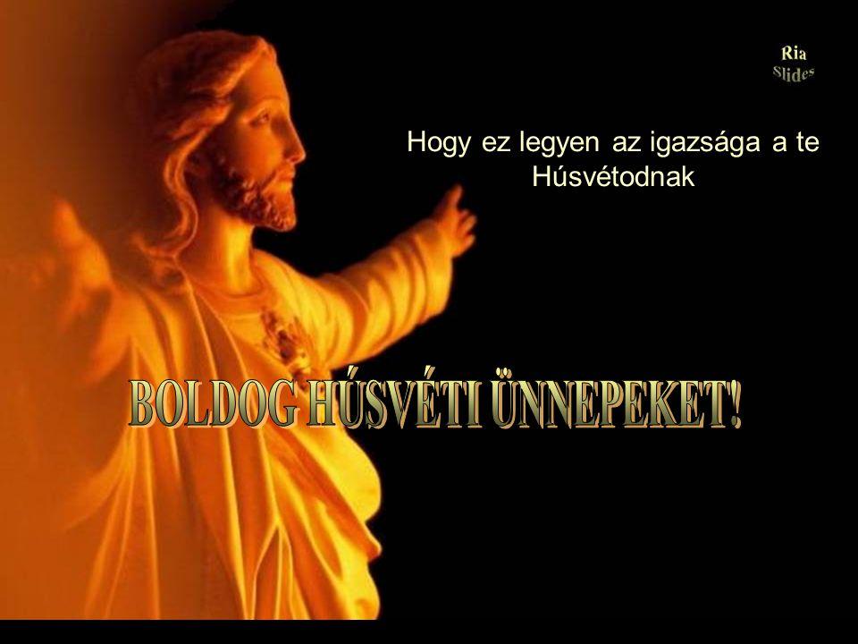 Krisztus meghalt, de Feltámadt És mindez azért, hogy megtanítson megölni a bünneinket és feltámasztani az ártatlanságot, a jóságot, a becsületet, amik elvannak temetve a szívünk mélyén.