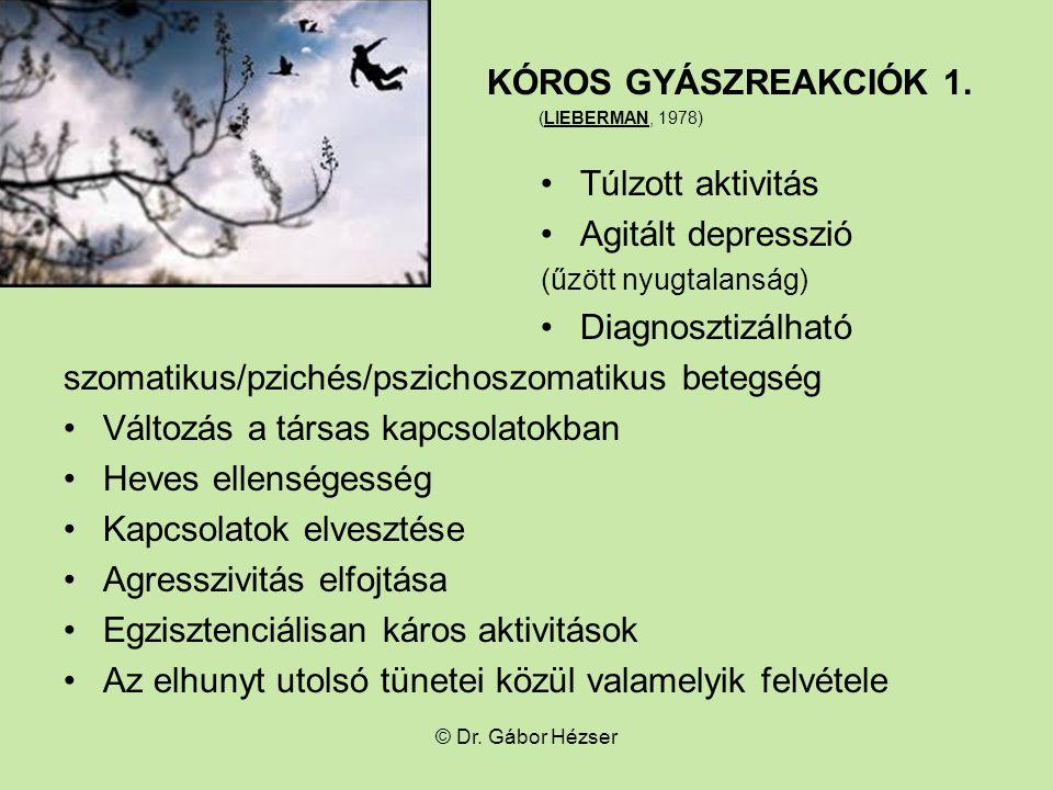 KÓROS GYÁSZREAKCIÓK 1.