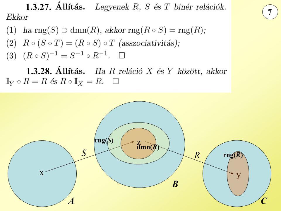 7 A B C y x R S rng(S) dmn(R) z rng(R) 1.3.27. 1.3.28.