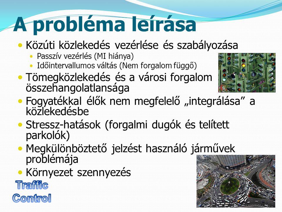 State-of-the-Art 4 Az intelligens forgalom irányító rendszerek igen elterjedtek napjainkban, több cég is forgalmaz és üzemeltet ilyen rendszereket Tyco – világszerte ELTODO – Cseh ország Ezen rendszerek működése mutatja, hogy az ilyen hálózatok életképesek, de az is látható, hogy ezen megoldások igen specifikusak és csak szűk területre koncentrálnak.
