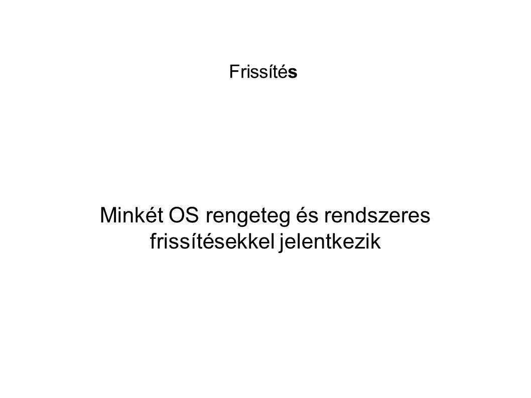 Frissítés Minkét OS rengeteg és rendszeres frissítésekkel jelentkezik