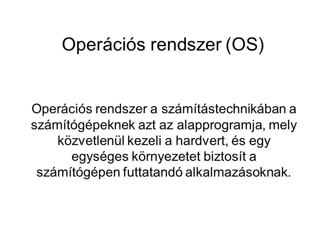 A két legelterjedtebb OS ● Windows