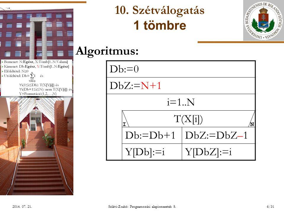 ELTE Szlávi-Zsakó: Programozási alapismeretek 8.6/312014.